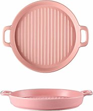 Grill Pans Round Baking Tray, Household Ceramic
