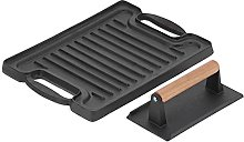Grill Plate Tray, BBQ Griddle Plate Cast Iron