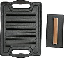 Grill Plate Tray, Pre-Seasoned Double Sided