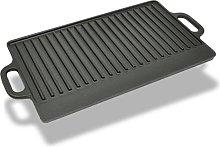 Grill Platter Cast Iron Reversible 38x23 cm -
