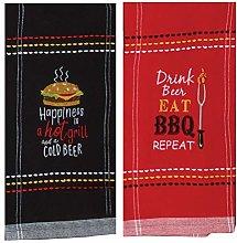 Grillmaster Kitchen Towel Set | Bundle of 2