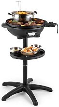 Grillpot Electric Stand Grill w. Built in Fryer