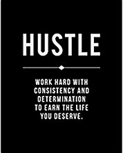 Grind Hustle Execution Motivational Quotes Posters