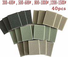 Grinding Sandpaper Tool 40pcs Sponge Sanding