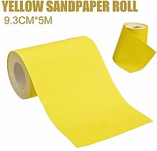Grit 120 5M Fast Sandpaper 1pc Yellow Aluminium