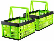 Grizzly 2 x Collapsible Crates with Handles - 16 L