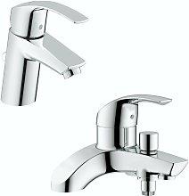 Grohe Eurosmart basin and bath shower mixer tap