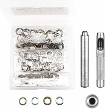 Grommet Tool Kit, 100 Sets Copper Eyelets with