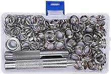 Grommet Tool Kit Metal Eyelets Set Copper Silvery
