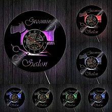 Groomer Scissor Home Decor Wall Clock Pet Grooming