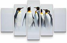 Group of Penguins Graphic Art Print Multi-Piece