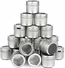 Growment Magnetic Spice Tins Stainless Steel Spice
