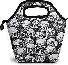 Grunge Scary Skulls Dark Sketchy Zipper Insulated
