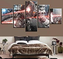 GSDFSD 5 Pieces Canvas Print Wall Art Picture Star