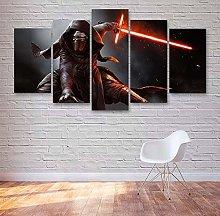 GSDFSD 5 Pieces Star Wars Kylo Ren Movie Print On