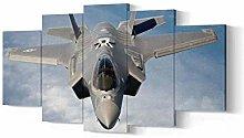 GSDFSD Framed F-35 Lightning Fighter Jet 5 Piece
