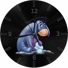 gshangmaoss Wall Clock Silent Non Ticking Round