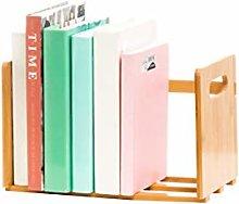 GSHWJS Desktop Bookshelf Double Bookshelf Display