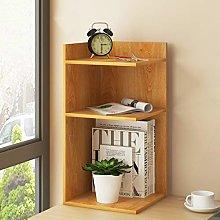 GSHWJS Desktop Bookshelf Simple Layered Bookcase