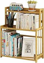 GSHWJS Desktop Bookshelf Solid Wood Storage Rack