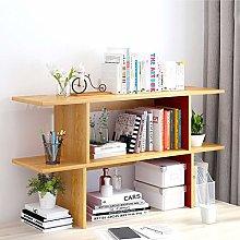 GSHWJS Desktop Bookshelf Stationery Desk Workspace