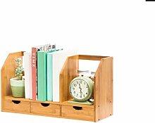 GSHWJS Desktop Bookshelf Student Mini Desk Storage