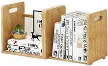 GSHWJS Simple Bookshelf Telescopic Bamboo Storage