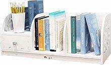 GSHWJS Simple Modern Bookshelf Creative Desktop