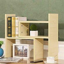 GSHWJS Solid Wood Bookshelf Desk Storage Rack