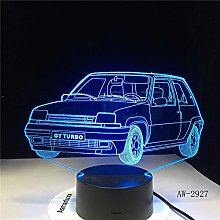 GT Turbo USB Indoor Night Light Car Shape Small