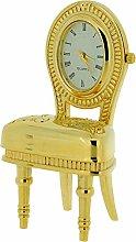 GTP Miniature Goldtone Plush Dining Room Chair