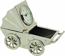 GTP Miniature Silvertone Baby Pram Picture Frame