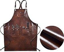 GTUQ Adjustable apron Brown PU apron cross straps