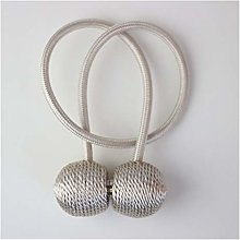GTUQ Curtain rope buckle 1Pair Magnetic Ball