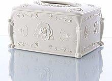 GTUQ Napkin dispenser Vintage Tissue Box Cover,
