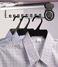 GTV Pull Out Wardrobe Clothes Hanger Rail,