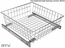 GTV Pull Out Wire Basket Drawer with Full