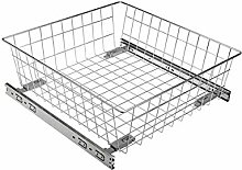 GTV Pull Out Wire Basket Drawer with Roller