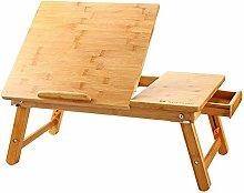GU YONG TAO Bamboo Laptop Desk - Portable Foldable