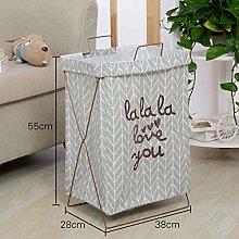 Gu3Je Laundry Basket,portable Simple Fabric