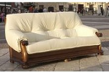 Guadalet 3 Seater Italian Leather Sofa Settee Hielo