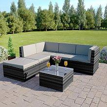 Guadalupe 5 Seater Rattan Corner Sofa Set Sol 72