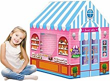 Guanan Kids Play Tent, Girls Pink Princess Castle