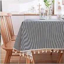 Guanwen Blue Daisy Tablecloth Printed Garden