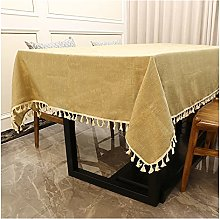 Guanwen Cotton Linen Tablecloth Home Decorative