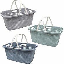 Guaranteed4Less Plastic Laundry Hamper Basket