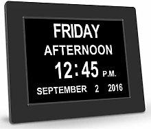 GUASD Digital Day Clock Large Calendar for Memory