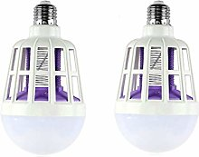 GuDoQi 2 Pack Mosquito Killer LED Bulb 220V 15W
