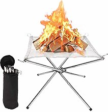 GuDoQi Outdoor Fire Pit, Collapsible & Portable
