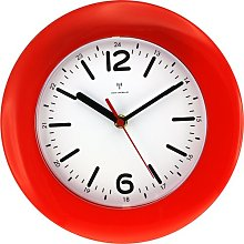 Guerra Wall Clock Mercury Row Colour: Red